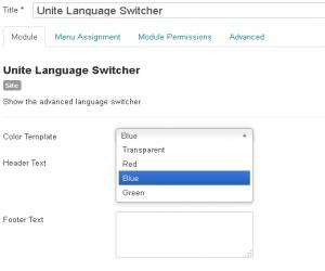 ماژول تغییر زبان در جوملا Language Switcher